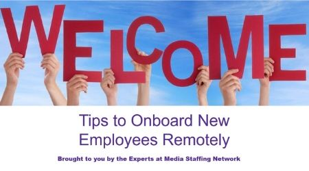 Onboarding new hire remotely